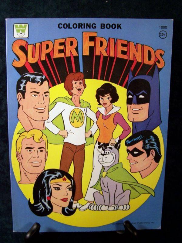 Super Friends (Whitman Coloring Book, 1975)