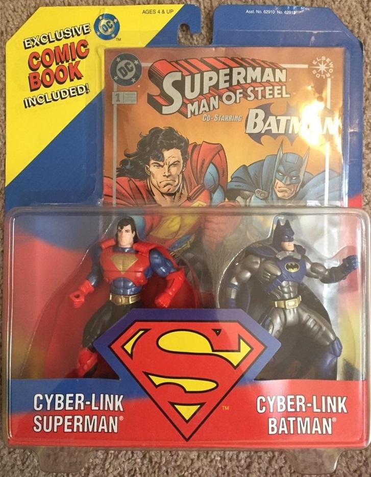 Cyber-Link Superman & Cyber-Link Batman