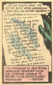 Letter to Hawkman (JLA 116)