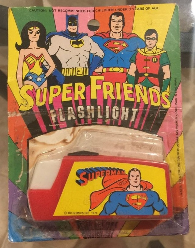 Super Friends Flashlight (Superman) (Nasta, 1976)