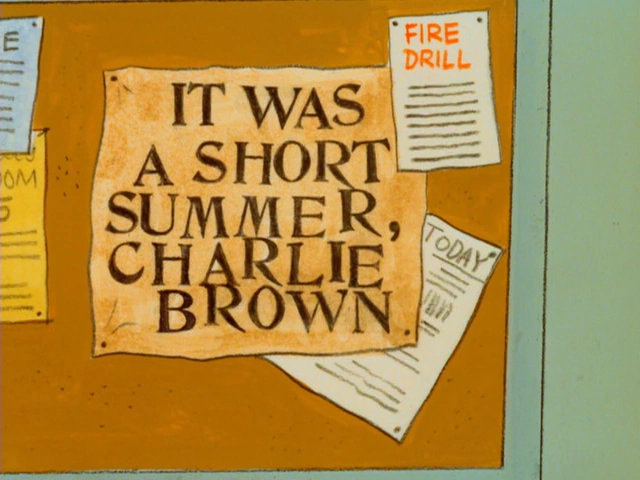 It Was a Short Summer, Charlie Brown Credits