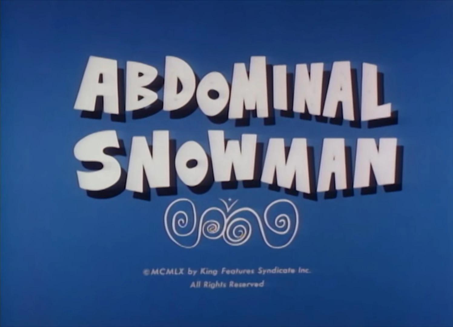 Abdominal Snowman credits