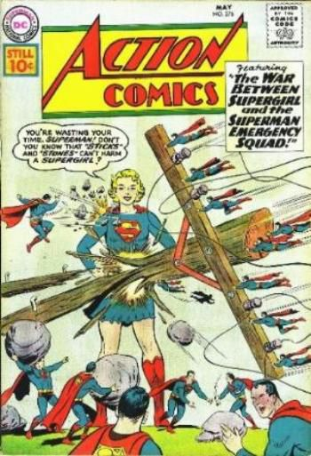 The War Between Supergirl and the Superman Emergency Squad!