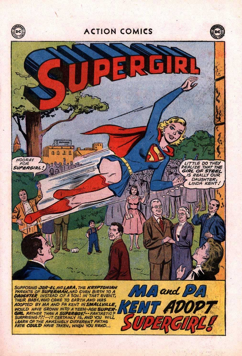 Ma and Pa Kent Adopt Supergirl!