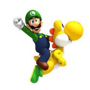Luigi nd yoshi