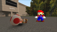 Mario Goes to the Fridge to Get a Glass Of Milk 067