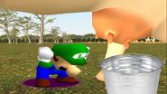 Mario Goes to the Fridge to Get a Glass Of Milk 218
