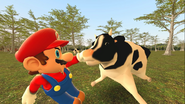 Mario Goes to the Fridge to Get a Glass Of Milk 225