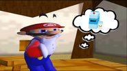 Mario Goes to the Fridge to Get a Glass Of Milk 005