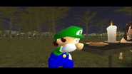 Mario Goes to the Fridge to Get a Glass Of Milk 252