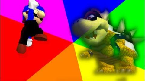 Super Mario 64 Bloopers: two evil friends.