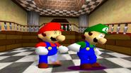 Mario equip Luigi
