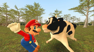 Mario Goes to the Fridge to Get a Glass Of Milk 224