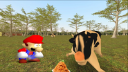 Mario Goes to the Fridge to Get a Glass Of Milk 227