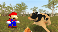 Mario Goes to the Fridge to Get a Glass Of Milk 228