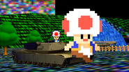 Pixelated Toads on a Tank