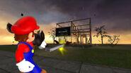 Mario destroy the Microsoft HQ