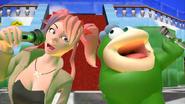 SMG4 - Okie Dokie Mario Club - Saiko-Chan singing with Fishy Boopkins