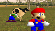 Mario Goes to the Fridge to Get a Glass Of Milk 220