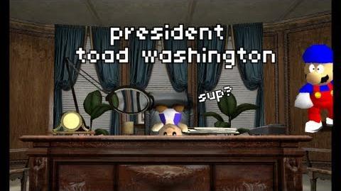 Super Mario 64 Bloopers: President Toad Washington