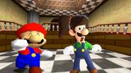 Luigi's pigtail hair