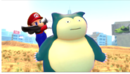 Mario slapping Snorlax