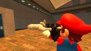 Master Hand got shot by Mario