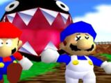 Super Mario 64 Bloopers: Who let the Chomp out?/Transcript