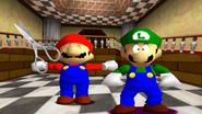 Mario equip scissors