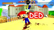 Mario Death Screen SEOITAB Peach's Castle