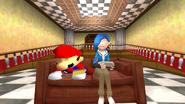 Mario and Tari playing games