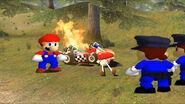 Mario confront the police