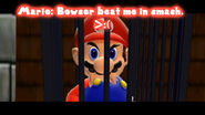 Bowser beat me in smash