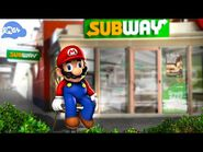 SMG4- Mario goes to subway and purchases 1 tuna sub with extra mayo