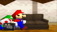 Mario Goes to the Fridge to Get a Glass Of Milk 310