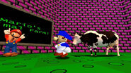 SMG4 brings a cow to Mario