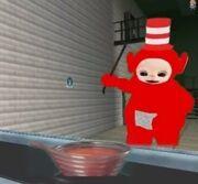 Tubby Wonka with a bowl of tubbycustard.