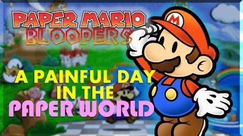 Paper Mario Bloopers: A Painful Day in the Paper World