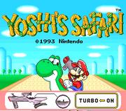 Schermo del titolo Screenshot - Yoshi's Safari.png