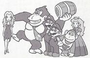 Group Art - Donkey Kong (Game Boy)