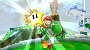Superstella, Mario, Yoshi Screenshot - Super Mario Galaxy 2