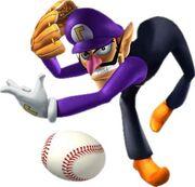 Waluigi Artwork - Mario Superstar Baseball.jpg