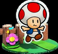 Toad Artwork - Paper Mario Color Splash
