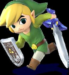 Link Cartone Artwork - Super Smash Bros. per Nintendo 3DS e Wii U.png
