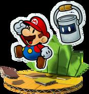 Mario e Tinto Artwork - Paper Mario Color Splash