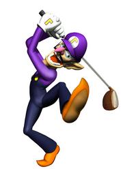 Waluigi Artwork - Mario Golf Toadstool Tour.png