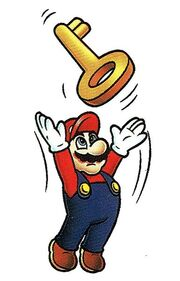384px-Mario Throwing a Key.jpg
