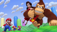 Mario Pauline Donkey Kong Screenshot - Mario vs. Donkey Kong Tipping Stars