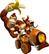 Donkey Kong and Diddy - Mario Kart Double Dash