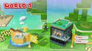 SM3DW Mondo 1 Luigi